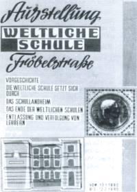 Die erste weltliche Schule in Linden 1922