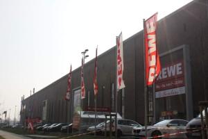 Fachmarktzentrum in der ehemaligen Hanomag mit Fahrrad Stadler