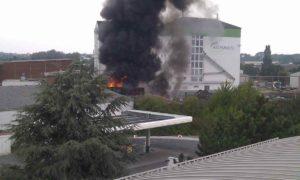 Brand Lindener Hafen