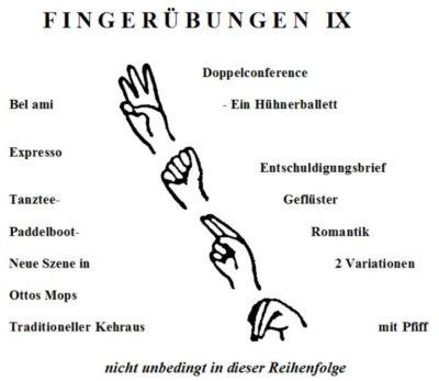 Fingerübungen