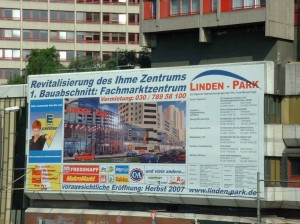 Bauschild Lindenpark