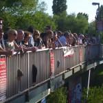 Viel los auf der Justus-Garten-Brücke
