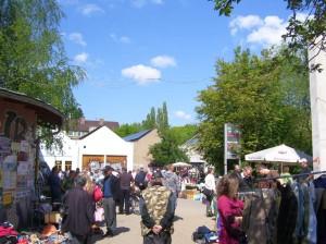 Flohmarkt auf dem Faustgelände