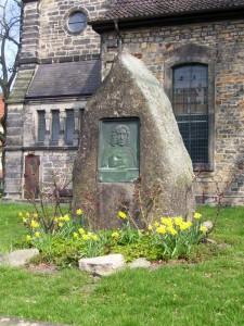 Gedenkstein für Pastor Sackmann