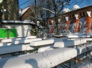 Turmbiergarten im Winter