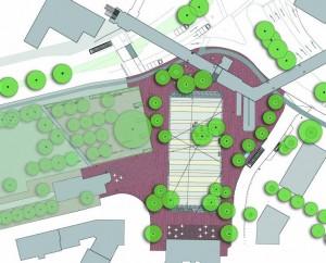 Plan für den Umbau des Küchengartenplatzes