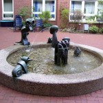 Brunnen im Godehardistift