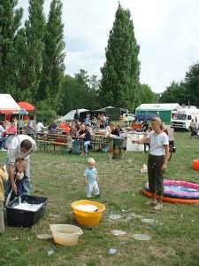 Kinderfest auf der Faustwiese auch beim Fährmannsfest 2014 wieder ein großer Spaß