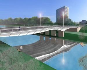 Ihmebrücke im Modell