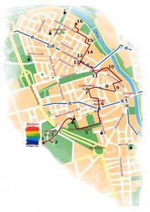 Übersichtskarte: Butjer Route