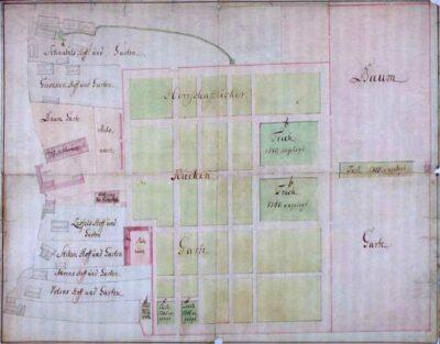 Der Küchengarten 1779 (© Nds. Hauptstaatsarchiv)