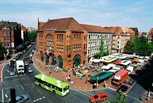 Das Herz von Linden-Mitte der Lindener Marktplatz