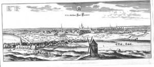 Merian - Stich, Blick vom Lindener Berg, um 1654