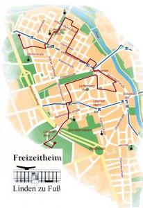 Karte: Linden zu Fuß