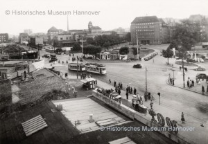 Blick auf die Städtischen Bäder (© Hist. Museum Hannover)