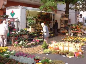 Stand auf dem Lindener Markt