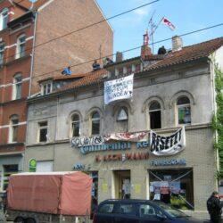 Schon 2013 protestierten Hausbesetzer in der Limmerstraße gegen die steigenden Mieten