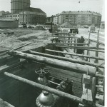 Baustelle Goetheplatz Blick aus der Feuerwehrstraße 1962