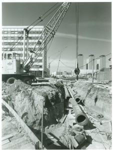 Baustelle Königsworther Straße mit HKW 1963