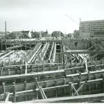 Baustelle neue Spinnereibrücke 1963
