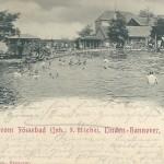 Fössebad um 1904. Die Uferböschungen sind noch nicht befestigt