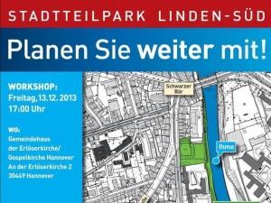 Einladungsflyer Stadtteilpark Linden-Süd