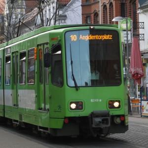 Linie 10: Schienersatzverkehr am Wochenende