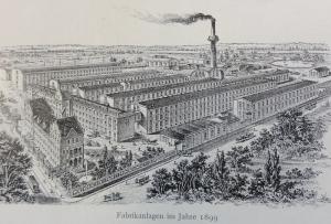 Fabrikanlagen 1899 (Bild: Railweh10 - Wikipedia.de)