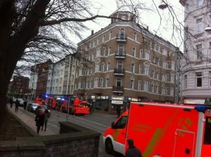 Feuerwehreinsatz in der Falkenstraße