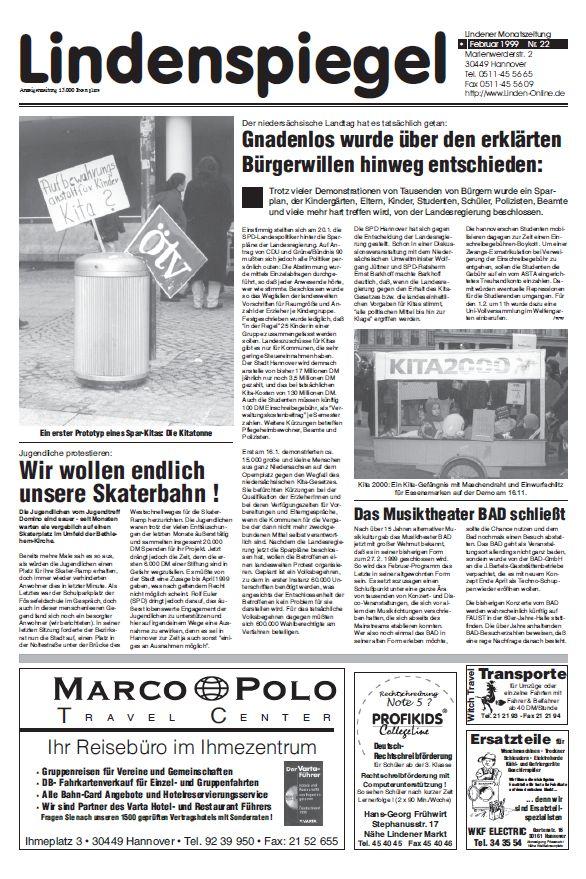Lindenspiegel Februar 1999