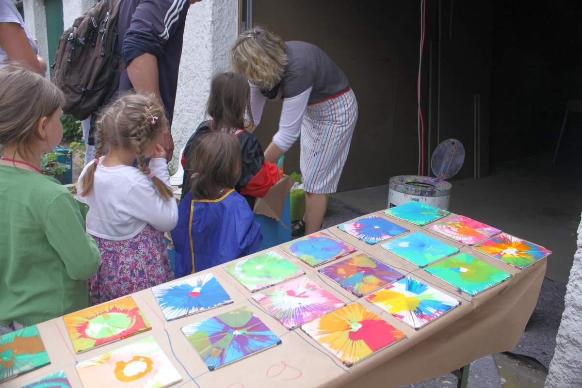 Kinderaktiion bei der Eröffnung