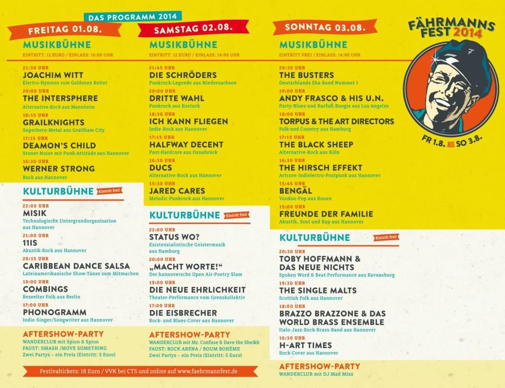 Fährmannsfest 2014 Übersicht
