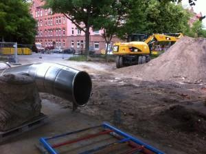 Tunnelrutsche am Boden