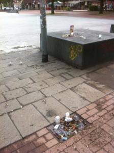Müll einfach liegen lassen