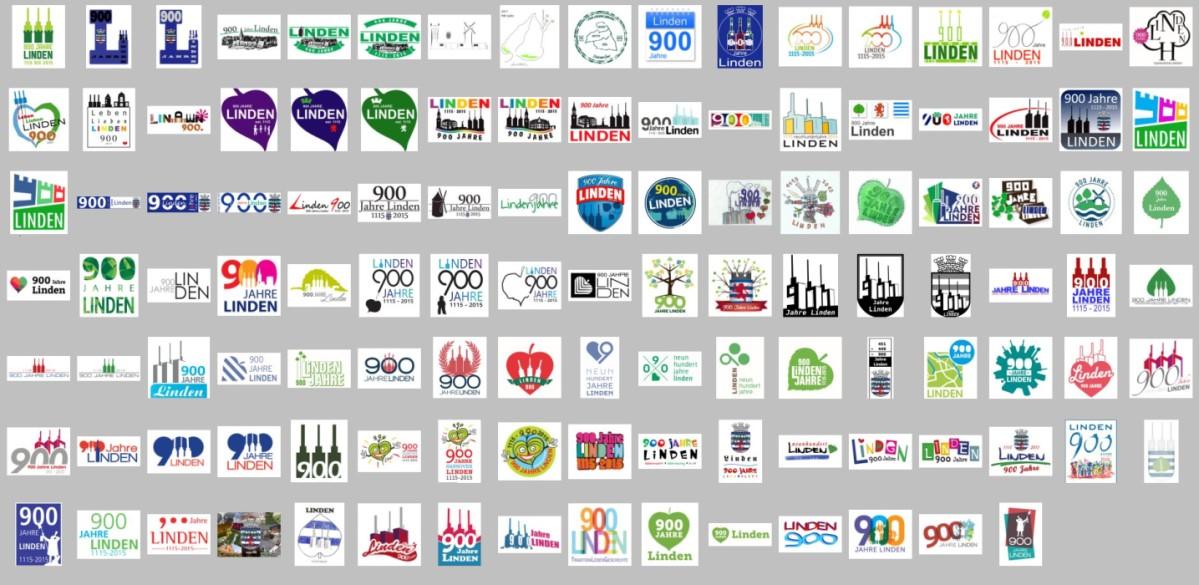 Einsendungen zum Logo-Wettbewerb 900 Jahre Linden