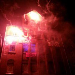 Das Haus Dieckbornstraße 38 während der Besetzung