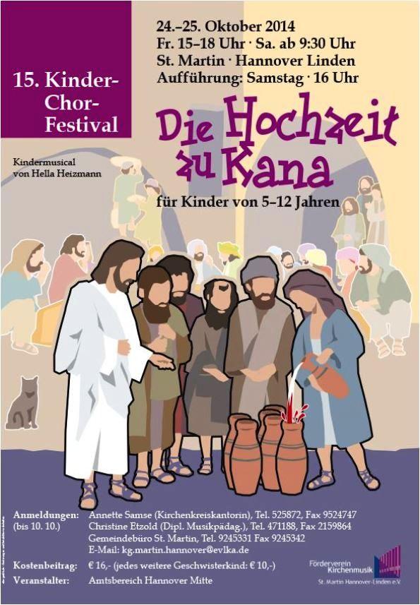 Die Hochzeit Zu Kana 15 Kinderchor Festival Linden Entdecken