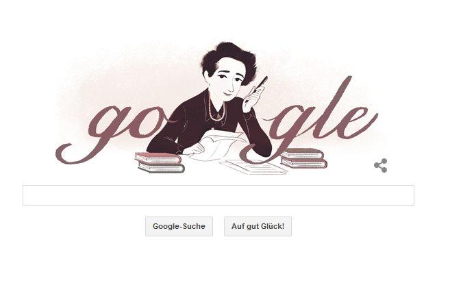 Hannah Arendt auf der Google Seite
