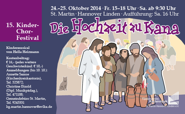 """Kinderchorfestival """"Hochzeit zu Kana"""""""