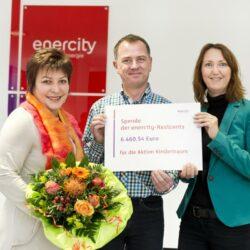 enercity - Spendenübergabe Restcent an Aktion Kindertraum