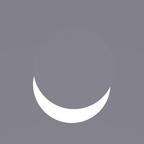 Die maximale Phase der Sonnenfinsternis am 20. März 2015 für Hannover (mit Stellarium simulierter Anblick).