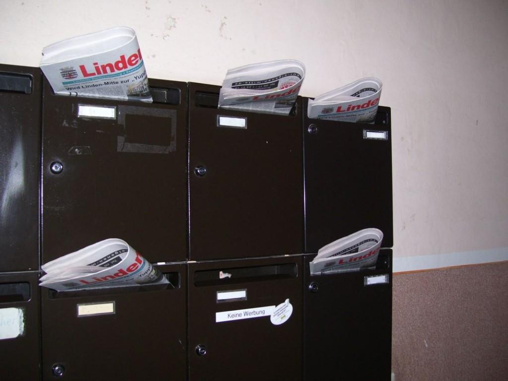 Lindenspiegel in Briefkästen verteilt
