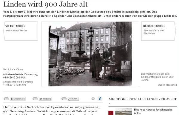 900 Jahre Linden mit Marktplatz Hannover