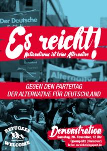 Es reicht - Gegen AfD - Plakat