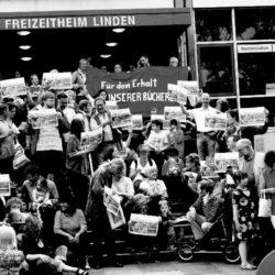 Bürgerinitiative gegen die Schließung der Stadtbibliothek Limmerstraße