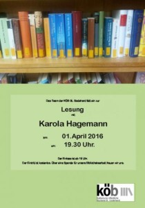 Lesung mit der Autorin Karola Hagemann