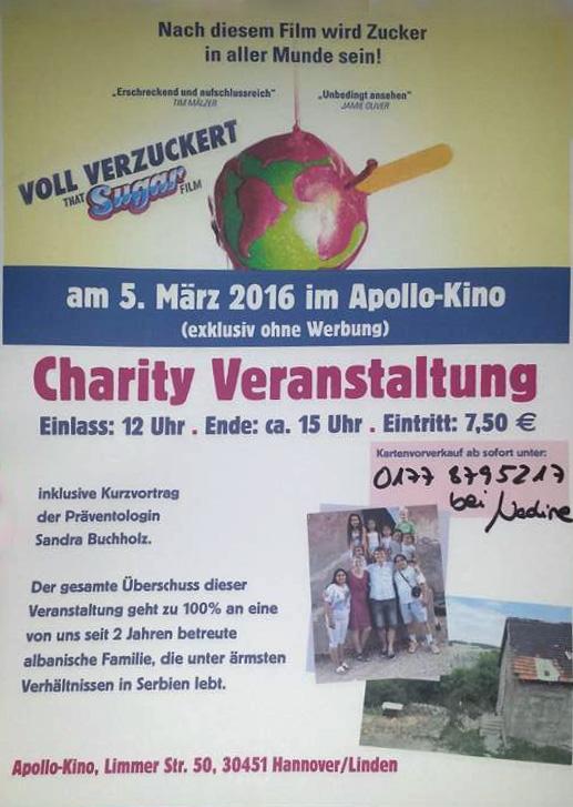 Charity Veranstaltung für eine albanische Familie