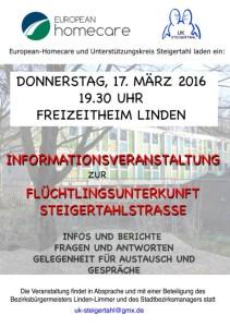 Informationsveranstaltung Steigertahlstraße