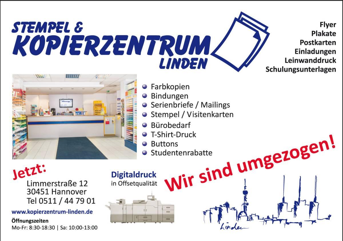 Stempel Kopierzentrum Linden Ist Umgezogen