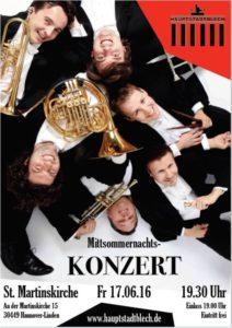 Konzert-Plakat 'Hauptstadtblech 17.6.16